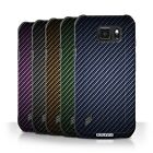 STUFF4 Case/Cover for Samsung Galaxy S6 Active/G890 /Carbon Fibre Effect/Pattern