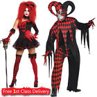 Halloween Jester Costume Idea for Couples Costume Adult Clown Fancy Dress Scary
