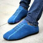 Mens Flats Suede Comfort Lace Up Shoes Driving Moccasins Fur Lined Autumn Winter