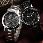 Luxury Stainless Army Sport Automatic Mechanical Skeleton Mens Wrist Watch