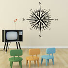 Compass Rose Vinyl Wall or Ceiling Decal - fits nautical nursery + more K651