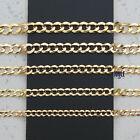 14K SOLID YELLOW AUTHENTIC GOLD CUBAN LINK CHAIN
