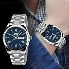 Men Fashion Military Stainless Steel Analog Date Sport Quartz Wrist Watch