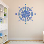 Compass Rose Vinyl Wall or Ceiling Decal - fits nautical nursery room +more K652