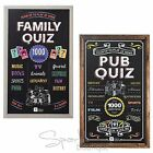 FAMILY & PUB QUIZ GAMES - Christmas/Party Entertainment -With Scoreboard & Chalk