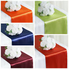 """10 12"""" x 108"""" Satin Table Top Runners Wedding Party Linens - Free Shipping"""