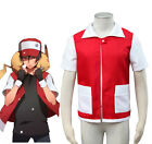 Pocket Monster Pokemon Special Red Coat Anime Cosplay Costume