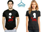 Halloween Jack Sally Couple Funny Tshirt Her Jack His Sally Boo Tshirt BLCK-BLAC