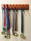 Sports Medals Display Holder  Running  Runners  17 Wooden Pegs  Bevelled Edges
