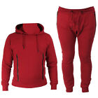 ENTT MEN WINE RED TRACKSUIT  HOODIE FULL TOP BOTTOM WARM ACTIVE JOGGING SPORTS