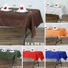 """20 pcs 54"""" SQUARE POLYESTER TABLECLOTH Wedding Party Catering Dinner Linens SALE"""