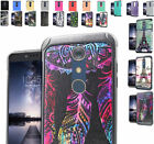 2Layer Dual Slim Hybrid Impact Case Cover For ZTE ZMAX Pro / Blade X Max Phone