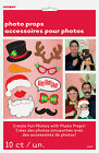 10 x Christmas Photo Booth Face Photo Props Party Activity Ideas FREE P&P