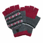 New Jeanne Simmons Women's Winter Print Convertible Fingerless Mittens