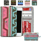 Universal Paisley Canvas Mobile Cell SmartPhone Wristlet Case Cover XLPS