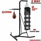FreeStanding 2 way Frame MMA Boxing Punch Bag Stand Platform Speedball Fitness