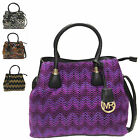 Ladies Knitted Style Two Tone Evening Handbag Party Shoulder Bag Tote MF3258-1