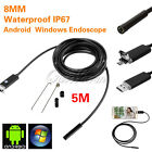 Ourwarm USB Borescope Endoscope Inspection Tube Video Camera for PC Android 6LED