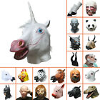 Halloween Horse/Unicorn/Pig/Sheep/Panda/Maleficent/Zebra/Batman/Hulk Latex Mask