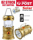 6-in-1 360° LED Tent Lantern Light Torch w/solar panel rechargeable USB camping