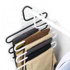 Stainless Steel S-Shaped Pants Rack Multilayer Trousers Hanger Clothes Organizer