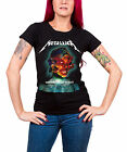 Metallica T Shirt Hardwired Album Cover Official Womens New Black Skinny Fit