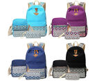 Women Canvas Girl's Shoulder School Bag Backpack Travel Satchel Rucksack Bookbag image