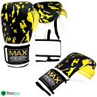 Boxing Gloves Punch Bag Gym Fight Training Mitts Rex Leather MMA Thai Pad Gloves