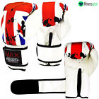 UK Flag Boxing Gloves Sparring MMA Punch Bag Mitts Rex Leather 4oz to 10oz