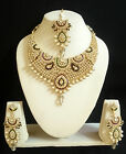 Designer Indian Bollywood Bridal Gold Plated Fashion Jewelry Pearl Necklace Set