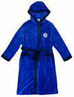 Chelsea FC official boys hooded fleece dressing gown age 3-13 years