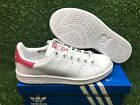 NEW ADIDAS ORIGINAL STAN SMITH J YOUTH GRADE SCHOOL WOMEN SHOES WHTE/PINK B32703