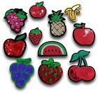 Fruit Strawberry Banana Pineapple Apple Sequin Iron / Sew On Patch Applique UK
