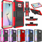 Hybrid Holster Stand Defender Armor Case Cover For Samsung Galaxy S6 Edge Plus +