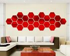 12pcs hexagonal mirror wall mural backdrop affixed dimensional crystal mirror