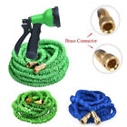 25FT-100FT Expanding Flexible Garden Water Hose Retractable Quality Brass Ends