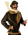 MENS WW1 WW2 FIGHTER PILOT COSTUME BIGGLES AIRMAN FANCY DRESS AVIATOR OUTFIT NEW