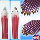 High Quality ART Paint Brush Sets 12pcs Flat / Tip Painting Brushes Set Artist