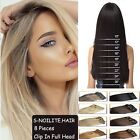 8 Pieces 18 Clips In Full Head 100% Ture Remy Human Hair Extensions UK Sale H874