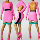 Womens Multi-Colored Fashionable Bodycon Dress