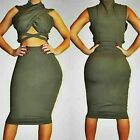Womens Olive Colored Bodycon Dress