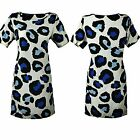 Womens Casual Multi-Colored Short Sleeve Casual T-shirt  Dress