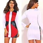 Womens Multi - Colored Long Sleeve Stylish Bodycon Dress