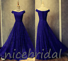 Vintage Lace Evening Prom Dress Long Formal Pageant Ball Homecoming Party Dress