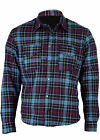 Mt'rcycle Flannel Lumberjack Shirt Lined WITH DuPont™ KEVLAR® ARAMID BLUE/YELLOW