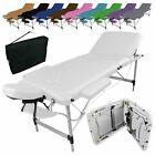 LINXOR FRANCE ® TABLE DE MASSAGE PLIANTE 3 ZONES EN ALUMINIUM / Pliable Portable