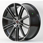 4 GWG Wheels 20 inch STAGGERED Black Machined FLOW Rims fits ET20/25 CHEVY CAMAR