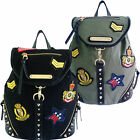 Ladies Anna Smith Army Military Badge Backpack LYDC Rucksack School Bag A7226
