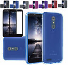 Full Tempered Glass+Slim TPU Rubber Case Cover For ZTE ZMAX Pro / Carry Z981