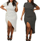 STO Sexy Ladies Womens Short Sleeve Plus Size Clubwear Party Cocktail Dress